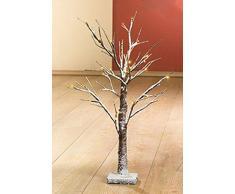 LED Lichterbaum, 18 LED´s, warmweiß, Weihnachtsdeko, Kunstschnee, ca. 50 cm