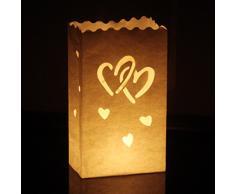 10 Stk. Lichttüten, Candle Bags, Luminaria für Party & Feier Geburtstag