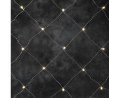 Konstsmide 3757-103 LED Lichternetz 96 warm weiße Dioden / 3x3 Meter / 24V Außentrafo / transparentes Kabel