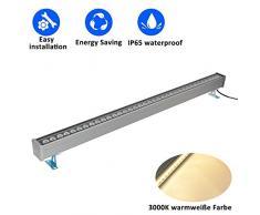 RSN LED Wandfluter Licht 36W Landschaftsbeleuchtung Warmweiß 3000K Außen wasserdichte IP65 Lampe zum Dekorieren [Energieklasse A +]
