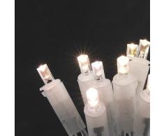 Konstsmide 5303-103 LED Minilichterkette / für Innen (IP20) / 230V Innen / 50 warm weiße Dioden / transparentes Kabel