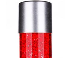 MIA Light Lava Lampe 760mm/ 1x40W/ Glitter/ Rot/ Leuchte Lavaleuchte Deko Steh