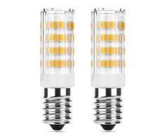 DiCUNO E14 LED Birne 4 W (40 W Halogen Äquivalent), 400LM, Warmweiß (3000K), 220-240V, Maiskolben Led Mais Birne,Nicht dimmbar, Kühlschranklampe/Wandlampe/Tischleuchte, 2er Pack