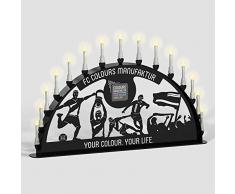 Schwibbogen Lichterbogen Metall - Motiv: Fußball Verein - Farbe: schwarz - wählbare Breite: XL = 1 Meter, XXL = 1,5 Meter und XXXL = 2 Meter - für Außen / Außenbereich (200 x 100 cm)