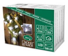Konstsmide 3153-203 LED Dekolichterkette Federn und Flügel / für Innen (IP20) / Batteriebetrieben: 3xAA 1.5V (exkl.) / 20 kalt weiße Dioden / transparentes Kabel