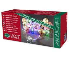 Konstsmide 3177-503 LED Dekolichterkette silberfarbene Metallbälle / für Innen (IP20) 24V Innentrafo / 21 bunte Dioden / transparentes Kabel