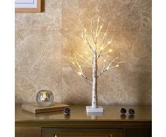 EAMBRITE Lichterbaum Lichterzweige für Innen 24 Warmweiß LEDs Bäumchen Birken Dekozweige Batteriebetrieb Weihnachtsdeko für Zuhause Party Geburtstag Hochzeit Innendekoration (60cm/2ft)