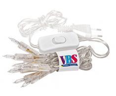 VBS Mini-Lichterkette 10er Lämpchen mit Schalter transparentes Kabel