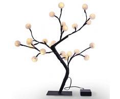 DecoKing 47484 24er LED Baum warm Weiß Lichterbaum Lichterzweig innen außen LED Tree Gartendeko Bonsai