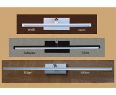 Wandlampe Warmweiß 50 cm MOD-B Bilderleuchte Beste Qualität Designer Lampe Bildleuchte LED (Silber)