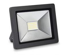 kwmobile LED Flutlicht Strahler 20W - LED-Strahler 1600 Lumen mit Stromkabel - Flutlichtstrahler Hof Treppe Garten Garage Wand - Fluter Scheinwerfer