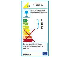 Trio Leuchten LED Wandleuchte Cuadro 225210104, Metall altmessing, 1x 8 Watt