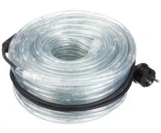 Konstsmide 3046-100 LED Lichterschlauch 6m / für Außen (IP44) / 230V Außen / 216 warm weiße Dioden / transparenter Schlauch