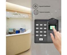 Elektronisches Türschloss Biometrics Türzugang Kontrollsystem Intelligentes Wasserdichtes RFID IC/ID Türschloss mit Fingerabdruckzugang und Optischem Sensor Geeignet für Wohnbereiche, Büroräume usw