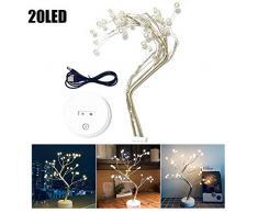 LED Lampe Zweig - Led Lichterzweige Warmweiss Batterie Stromversorgung, LED Kupferdraht Pearl Tree Licht, Lichter Zweige Weiß Dekorative Für Raum, Hochzeitsarrangement, Urlaub, Weihnachten