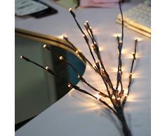 BLOOMWIN 3 Stück 20LED 77CM Hoch Warmweißes Lichtzweig 1.2W, Verformbare Lichterbaum LED Baum Lichterzweig Dekobeleuchtung für Innen Fenster, Schaufenster, Vase, Tisch, Kommode, Wohnzimmer