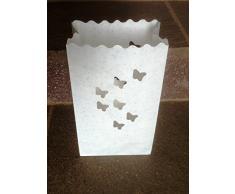 10 Stück Lichttüten, Lichtertüten Schmetterling - für Teelichter