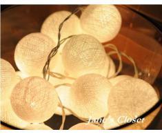 Eysee Warmweiß dekorative Lampe 20 Kugel für Garten, Innenraum, Blumenladen und Schaufenster