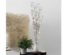 2 Stück Zweige mit Beleuchtung, 10 LED, Höhe 76cm, batteriebetrieben, Silber - Lichterzweige Lichterdekoration Stimmungslicht Stimmungsleuchte