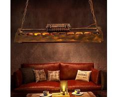 TLX-LAMP Vintage Pendellampe Leuchte Industrielle Retro Pendelleuchte Hängeleuchte Eisen-Stil Kronleuchter Hängelampe, Für Wohnzimmer Esszimmer Restaurant Keller Untergeschoss Bar