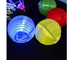 SUAVER Solar Lichterkette Bunt Lampion Außen Outdoor Laternen 30er Kugeln für Weihnachten Party Lichterpfindlich Uping