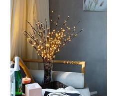 Kylewo LED Lampe Zweig, 20 LEDs wasserdichte Lichterzweige 77CM Warmweißes Zweiglicht mit Netzstrom Betriebene für Weihnachten Ostern Halloween