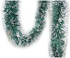 Handel24NET Tannengirlande grün/weiß ca. 10 m Dekogirlande Weihnachtsgirlande
