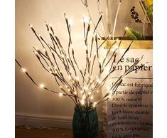 Leijing LED-Lichterzweige, feierliche dekorative Beleuchtung, 3 Bouquets