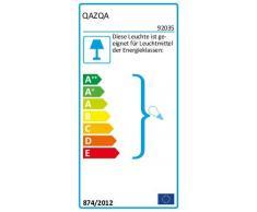 QAZQA Landhaus/Vintage/Rustikal/Retro Pendelleuchte/Pendellampe/Hängelampe/Lampe/Leuchte Munich zink/Außenbeleuchtung/Schlafzimmer Glas/Metall Rund LED geeignet E27 Max. 1 x 60 Watt