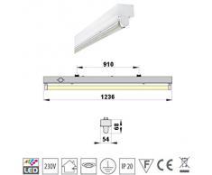 SUPER SET LED Deckenleuchten mit T8 LED 18W warmweiß 3000K 120cm G13 Büroleuchte, Bürobeleuchtung