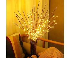 LED Lichterzweige 77CM 20LED Batteriebetrieben LED Baum Tischlampe für Weihnachten Hochzeit Geburtstag Valentinstag Vase Warmes Weiß 2pcs