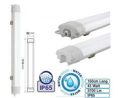 Feuchtraumleuchte Wannenleuchte Proline LED 45W Leuchte für Außen und Innen Wasserdicht IP65 Neutralweiß Slim