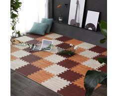 GYYARSX Puzzlematte Messeböden Bodenbelag Ausstellen Konventionen Wohnbereiche Spielzimmer Yoga, 9 Farben, 2 Größen (Color : B, Size : 30x30x1cm-40pcs)