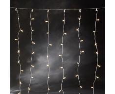 Konstsmide 3705-003 Microlight Eisregen Lichtervorhang / für Außen (IP44) / 24V Außentrafo / 320 klare Birnen / transparentes Kabel