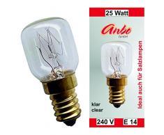 5 Stück Glühbirne E14-25 Watt Spezial-Leuchtmittel für Salzlampe und Kühlschrank.(2915)