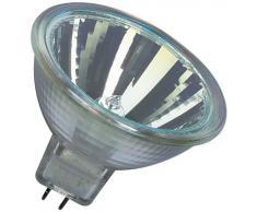 Osram 10-er Set Decostar 51s 12 Volt 20 Watt Sockel Gu5,3 36 Halogenlampe mit Kaltlichtspiegelreflektor und Abdeckscheibe, Durchmesser 51 mm 44860WFL