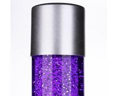 MIA Light Glitter ↥760mm/Retro/Violett/Leuchte Glitterlampe Glitterleuchte Lavalampe Lavaleuchte Magmalampe Magmaleuchte
