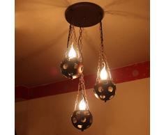 YSYYSH American Village Iron Retro Puzzle Kreative Antike Kerze Kronleuchter Mittelmeer Einfache Bar Licht Teehaus Beleuchtung Ideal for Wohnbereiche Schlafzimmer dekorative Leuchten