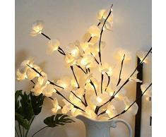 Wankd LED Lichterzweige Dekoleuchte Dekozweige Lichterzweige LEDs Lichter Zweige Lichterbaum LED Baum Lichterzweig Dekobeleuchtung für Innen Außen (Weiß)