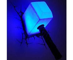 Philips Wandleuchte Thor Hammer 3D LED Lampe mit Sticker P15020GI