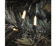 Konstsmide 6020-100 LED Minilichterkette/für Außen (IP44) / 24V Außentrafo / 80 warm weiße Dioden/grünes Kabel