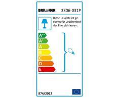 Deckenleuchte 3-flammig Deckenstrahler grau Spot beweglich rund Wohnzimmer Briloner 3306/031P