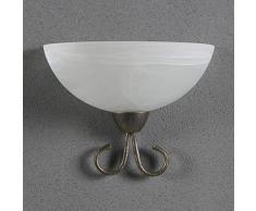 Lindby Wandleuchte, Wandlampe Innen Castila dimmbar (Landhaus, Vintage, Rustikal) in Weiß aus Glas u.a. für Wohnzimmer & Esszimmer (1 flammig, E27, A++) - Wandfluter, Wandstrahler, Wandbeleuchtung