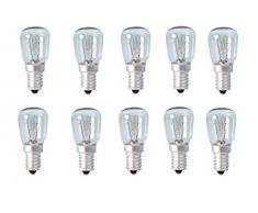 Glühlampe/Leuchtmittel, 15 W, E14 Gewinde, für Himalaja-Salzlampe, Kühlschrank, Ofen, Mikrowelle, Nähmaschine, 10 Stück