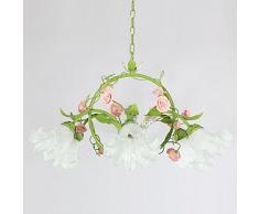 Grün Pastoral Blumen Wohnzimmer Hängelampe Modernes Esszimmer Zum Aufhängen  Lampen Studie Schlafzimmer Kronleuchter