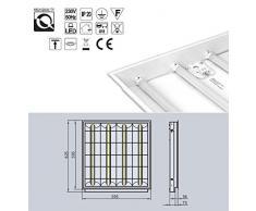 Einbau Rasterleuchte / Art. 8210 / geeignet für 4X T8 LED Röhren / Rasterlampe Bürolampe Deckenleuchte / für Industrie- und Lagerhallen Schulen, Büros und Sozialräume Korridore, Treppen- Parkhäuser Kühl- und Lagerräume