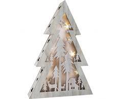 Small Foot 10200 Weihnachtsbeleuchtung, Holz, weiß, 33.00 x 6.50 x 48.00 cm