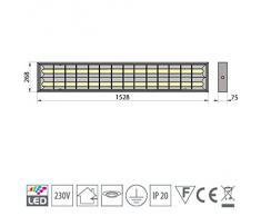 LED Rasterleuchte geeignet für 2x LED 150cm T8 Rasterlampe Bürolampe Deckenleuchte