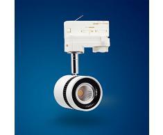 Mextronic 8W Tageslicht weiss led 3 phasen strahler für Schienensystem Schienen Strahler Schienen Leuchte