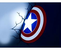Philips Wandleuchte Captain America Schild 3D LED Lampe mit Sticker P15040GI